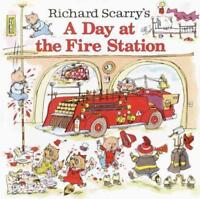 A DAY AT THE FIRE STATION - SCARRY, RICHARD - NEW PAPERBACK BOOK