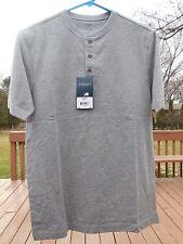 New Sonoma Life + Style Mens Gray Short Sleeve Crew Neck Classic Shirt Size S