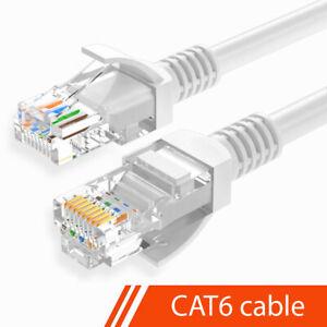 1M-30M CAT6 Ethernet Network Cable Internet Gigabit Patch LAN Lead Wholesale