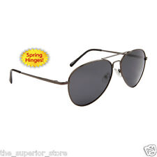New Polarized Aviator Sunglasses #2090 gun metal  Frames with Smoke Tint Lenses