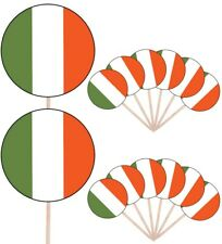 Ireland Irish Flags Party Food Cup Cakes Picks Sticks Decorations Toppers