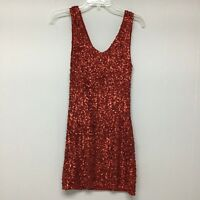 Love Culture Red Sequined Mini Dress Tank Small Stretch New Years Cocktail