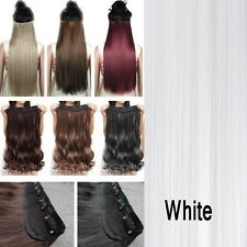 As Real Quality One Piece Half Full Head Clip in Hair Extensions Pink Black fo
