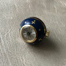 Montre Bijou Breloque Email Bleu Roi Fleurs De Lys Felicitas Suisse