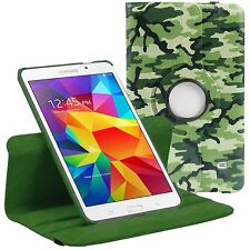 """CAMOUFLAGE 360 CASE FOR SAMSUNG GALAXY TAB 4 8.0"""" T330 ROTATING COVER STAND"""