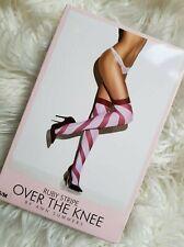 Ann Summers Ruby Stripe Stockings XS S-M XXL Fancy Dress Christmas Secret Santa