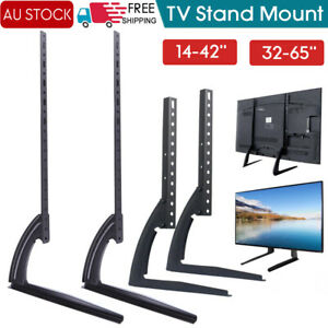 """Universal Table Top TV Stand Leg Mount LED LCD Flat TV Screen 14-75"""" For Sony LG"""