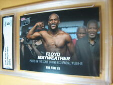 FLOYD MAYWEATHER 2017 TOPPS NOW WEIGH IN AUG. 25 # MM1 GRADED 9 L@@@K