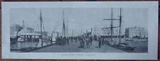 Orig 1886 NZ PRINT Queen St Wharf AUCKLAND