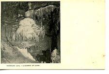 Interior-Titania's Veil Formation-Luray Caverns-Cave-Virginia-Vintage Postcard