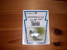 Keystone Fly Co B.H. Wooly Bugger Olive # 8 Streamer Flies - 2 Per Pack