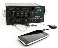 GM Delco 95-02 Chevy Car S10 Radio AM FM Cassette Player w Aux Input on Pigtail
