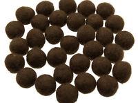50 Perline Palle Di Feltro Naturale Ø=2.1 CM Nepal Marrone BO12