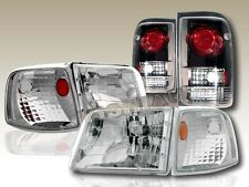 93-97 Ford Ranger Clear Headlights + Corner Lights + Black Altezza Tail Lights