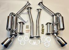 Dual Cannister Burn Tip Full Catback Exhaust System FITS Nissan 350Z Infinit G35