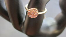 w/Diamonds, Original Tags, Sz 6, 2Grms 10K Yellow Gold Sunshine Rd Cocktail Ring
