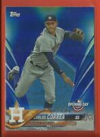 Carlos Correa 2018 Topps Opening Day BLUE FOIL Parallel Card Houston Astros MLB