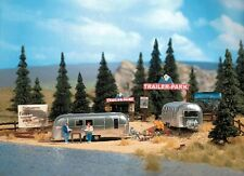 """Busch Gmbh and Co Kg - Trailer Park Scene - w/2 """"Airstream"""" Trailers - Ho"""
