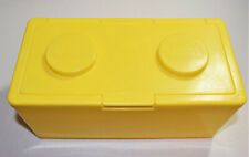 Vintage Chubs Baby Wipes Lego Stackable Storage Containers Building Block Yellow