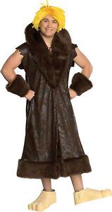 Barney Rubble Teen Deluxe Costume Short Sleeve Coat Halloween Fancy Dress Rubies