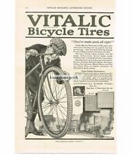1920 Vitalic Bicycle Tires Continental Rubber Company Erie PA Vintage Print Ad