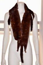 VTG Brown 4 Full Body Mink Fur Pelts Stole Cape Shawl Wrap Boa Scarf Collar MS