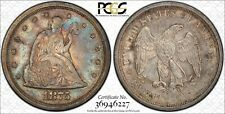 1875 S 20 CENT PIECE PCGS AU55 LUSTROUS WITH GORGEOUS BRITE TURQUOISE AND ROSE