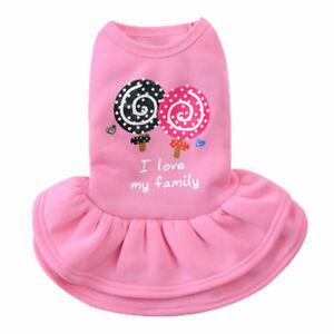 Pet Clothes Spring Lollipop Skirt Dog Cat Puppy Princess Dress Teddy Poodle #w