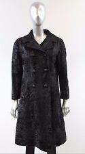 Black Broadtail Lamb Fur Coat Size M
