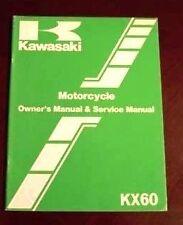 KAWASAKI KX60 99920-1214-01 SERVICE MANUAL USED 1982 VINTAGE OEM FREE SHIPPING