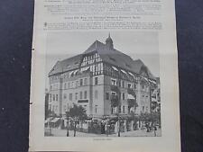 1909 Baugewerkszeitung 15 / Berlin Rixdorf Bergstraße
