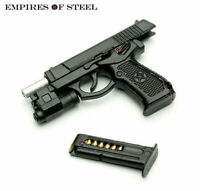 "1/6 Semi-automatic QSZ92 Pistol Fit 12""Action Figure Hand Gun Weapon Model Black"