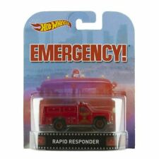 Hot Wheels Rapid Responder Emergency Retro Entertainment Red 1:64 NEW