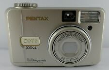 Pentax Optio 3.2MP Digital Camera - Silver + 64 MB memory Card