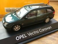 OPEL COLLECTION Vauxhall VECTRA C ESTATE OPC diecast model cars green black 1:43