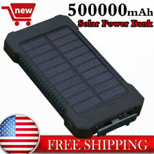 Power Bank 500,000mAh Waterproof Solar Charger 2 USB Battery Pack Fast Charging