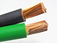 40' FT 1/0 AWG WELDING/BATTERY CABLE 20' BLACK 20' GREEN 600V MADE IN USA COPPER