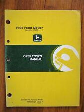 John Deere F932 Front mower operators manual serial 100,001 up