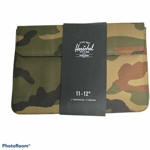 "NWT Herschel Supply Co. Spokane 12"" Laptop Sleeve Camo Green/Black/Tan A14"