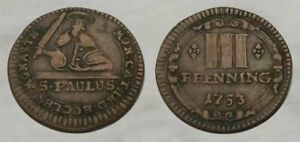 ☆ REMARKABLE !! ☆ 1753 Colonial Era Coin ☆ Very Good Detail !!