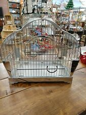 Hendryx Bird Cage Vintage Art Deco Original Glass, 2 Cups, Perches & More!