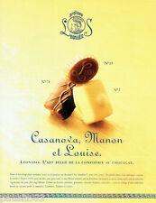 PUBLICITE ADVERTISING 036  1999  Pralines Leonidas  chocolats  Casanova Manon Lo