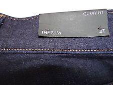 Ann Taylor Women's Blue Jeans 4T Tall The Slim Curvy Fit NWT NEW