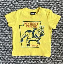 Diesel Baby Boy 9 Months 'My Best Friend' Yellow Dog T Shirt