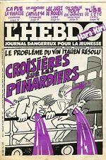 "L' HEBDO HARA-KIRI N°5 DU 19/08/1981 ""CROISIERES SUR LES PINARDIERS"""