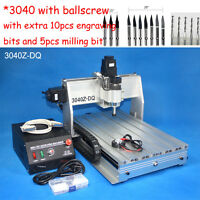 Ballscrew 3040 300W cnc router engraver engraving milling drilling machine mach3