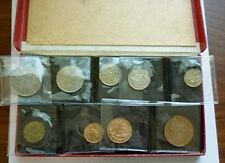 1950 Great Britain Uk - Official Proof Set (9) - George Vi - Orig. Red Box -Rare