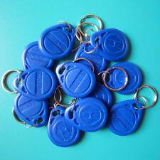 RFID 125KHz EM4100 TK4100 Proximity ID Token Tag Key Keyfobs Chain Blue-100pcs