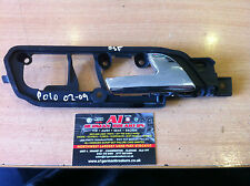 GENUINE 2002 - 2008 VW POLO OSF DRIVER FRONT INNER DOOR  L HANDLE 6Q2837174D
