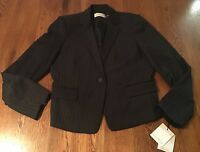 Calvin Klein Suits Charcoal Stripe Blazer Jacket Women's 14 NWT$129